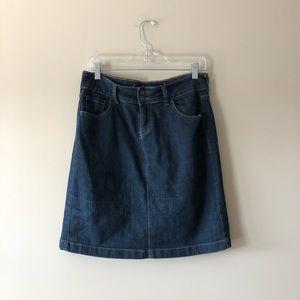 Old Navy dark wash denim jean skirt